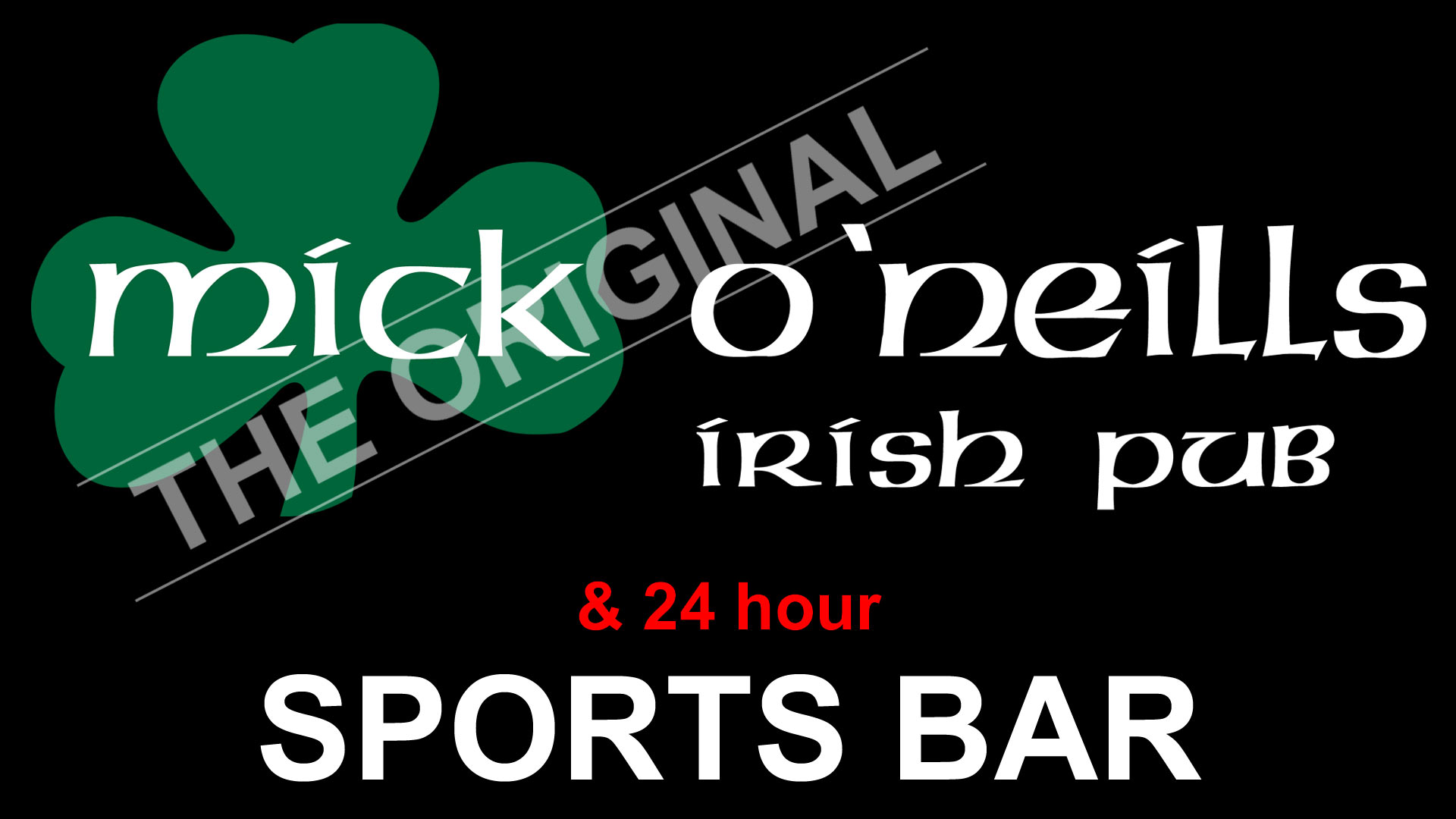 irish pub sports bar logo